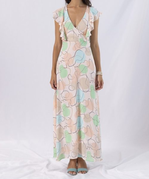 bubbly-ruffle-wrap-long-dress